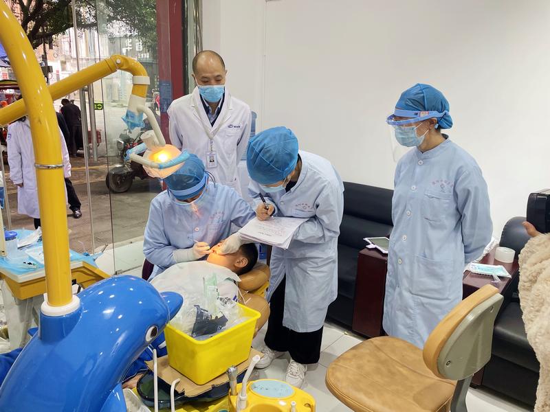 旌阳区开展2021年儿童口腔疾病综合干预项目督导